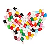DierCosy 50 Pcs Message Capsule Letter Cute Love Friendship Affection Color Pill Gift