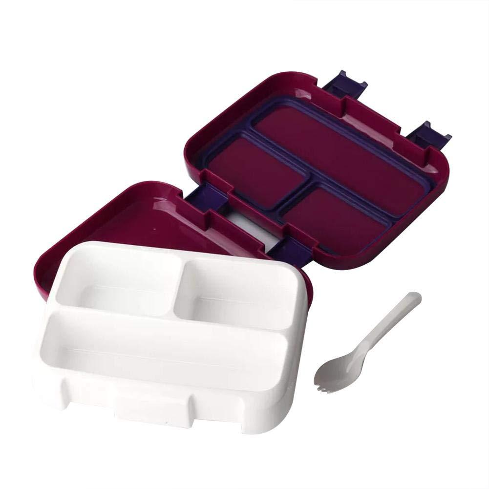 Viajes sin BPA Escuela a Prueba de Fugas Augproveshak Fiambrera termica Infantil Bento Lunch Box con 4 Compartimentos Picnic ni/ños Caja de Almuerzo para guarder/ía Camping