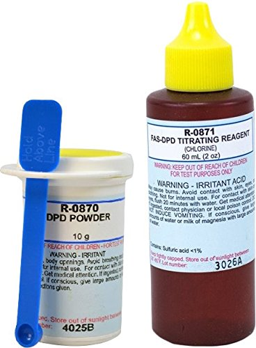 Taylor Dpd Powder - Taylor Replacement Reagent FAS-DPD Refill Kit (Large) - Over 100 Tests