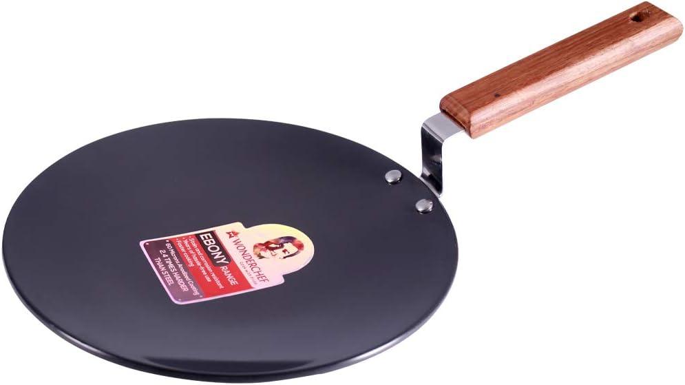 Wonder Chef 63152886 Ebony Roti Tawa 25cm Aluminium