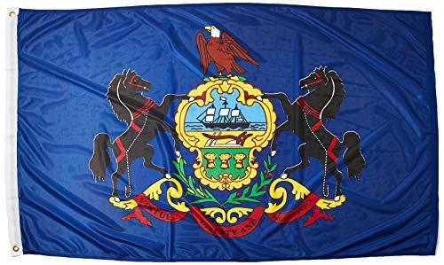(Online Stores Pennsylvania Superknit Polyester Flag, 3 by 5-Feet)
