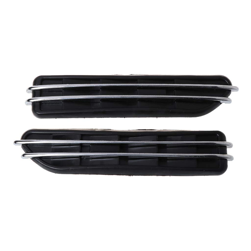 Autone A Pair Car Side Air Flow Fender Vent Cover Intake Grille Decoration Sticker