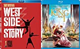50th Anniversary Musical The West Side Story + The King & I Blu Ray + DVD Set Movie Double Feature Bundle