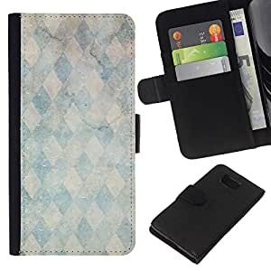 All Phone Most Case / Oferta Especial Cáscara Funda de cuero Monedero Cubierta de proteccion Caso / Wallet Case for Samsung ALPHA G850 // Marble Stone Pattern Teal