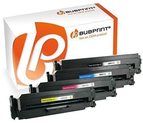 Bubprint 4 Toner kompatibel für HP CF410X CF411X CF412X CF413X für Farbe LaserJet Pro M452 M452DN M452DW M452NW MFP M377DW M477FDN M477FDW M477FNW