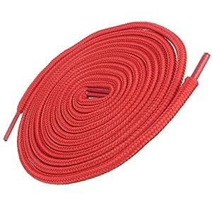 "Shoeslulu 63"" Premium Round Hiking Work Boot Nylon Shoelaces (Firebird Red, 63 inches)"