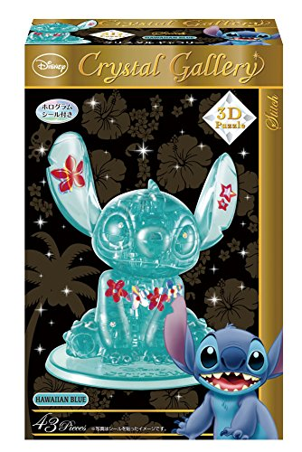 Hanayama Disney Crystal Gallery Hawaiian Blue Stitch 3d
