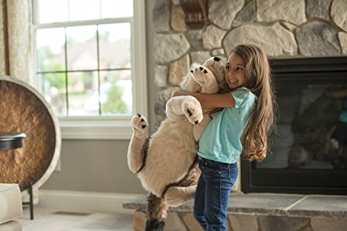Wild Republic Jumbo Wolf Plush, Giant Stuffed Animal, Plush Toy, Gifts for Kids, 30 Inches