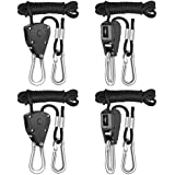 iPower 2-Pack 1/8 Inch 8-Feet Long Heavy Duty Adjustable Rope Clip Hanger, 150lb Capacity