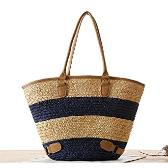 Summer Style Knitted Beach Bag Fashion Women Woven HandBag Bohemia Handmade Braided Tote Bag Gift
