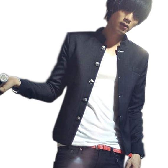 Costumes et vestes Black Sugar Veste Blazer Cintrée Noire Homme Écolier Japonais Étudiant Épaules Rembourrées Classe Costume Soirée Déguisement Cosplay