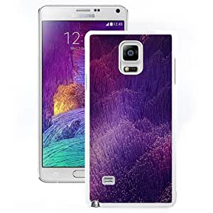 Abstract Light Purple Fiber Design Pattern HD Hard Plastic Samsung Galaxy Note 4 Protective Phone Case Custom SB.AO Case