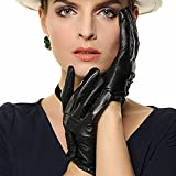 2015 New Sexy Women's Genuine Nappa Leather Wrist Driving Unlined Gloves