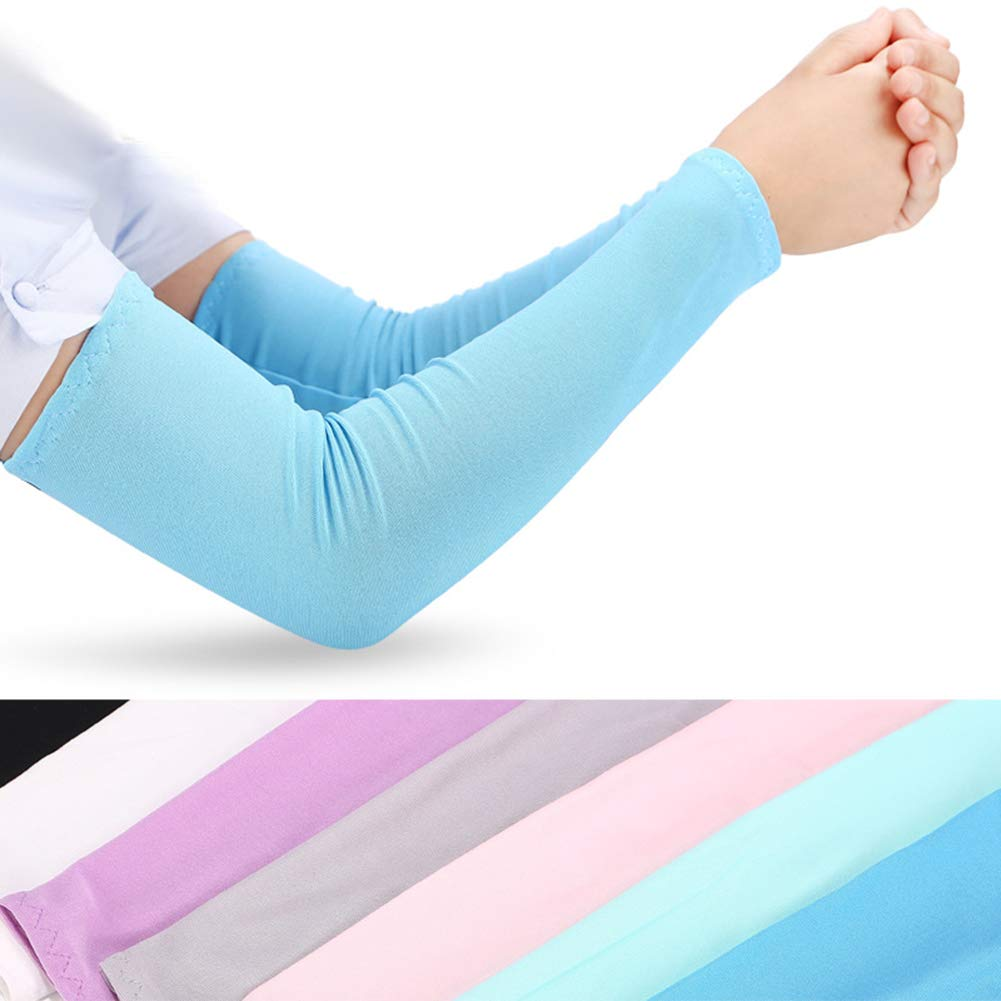 Cooling Arm Sleeves Anti Slip for Men Women UV Protection Arm Covers Outdoor Sports Protective by MacRoog (Image #2)