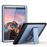 iPad Air 2 Case, YOUMAKER Heavy Duty Apple iPad Air 2 Full-body Rugged Protective Case with Kickstand and Built-in Screen Protector for Apple iPad Air 2 (2014 Release) - Blue/Black