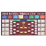 #10: Beyond Russia 2018 World Cup Poster, World Cup Stickers Great Soccer Matches Schedule Wall Chart 2018, Wall Decoration for Football Soccer Fans