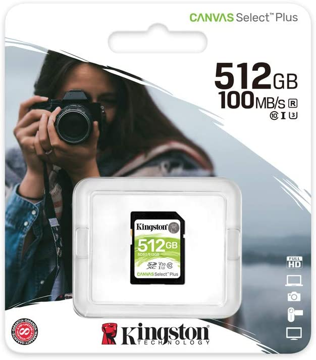 Kingston 512GB ViewSonic ViewBook 730 MicroSDXC Canvas Select Plus Card Verified by SanFlash. 100MBs Works with Kingston