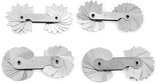 Radius-Messgerät - Edelstahl-Radiuskeil-Messwerkzeug R0.3-1.5 / R1-6.5 / R7-14.5 / R15-25 4St