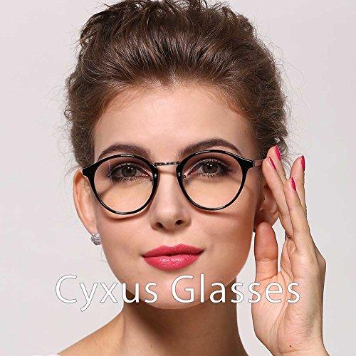 Cyxus Retro Round Frame Clear Lens, Fashion Classic Woman/man Eyewear
