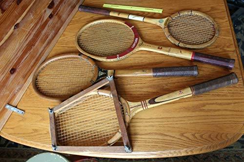 Wooden Tennis Racket Vintage Lot of Dunlop Elite Cortland Bobby Riggs Firestone