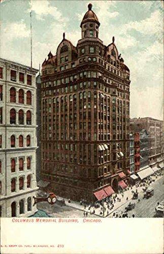 Columbus Memorial Building Chicago, Illinois Original Vintage Postcard
