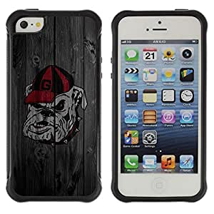 SHIMIN CAO@ Georgia Dogs Football Rugged Hybrid Armor Slim Protection Case Cover Shell For iphone 5S CASE Cover ,iphone 5 5S case,iphone5S plus cover ,Cases for iphone 5 5S