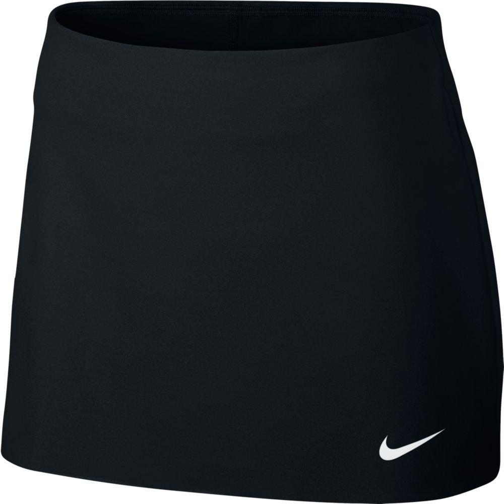 NIKE Women's Court Power Spin Tennis Skirt, Black/White, Large