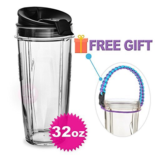 Replacement Parts for Nutri Ninja Blender,32 oz Cup and Sip N Seal Lid for Nutri Ninja Blender Auto IQ 1000w