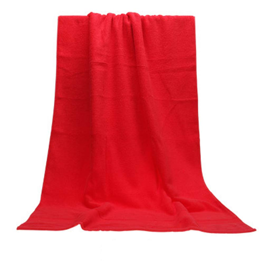 Cotton Honeycomb Forging Stalls to Increase Thickening Adult Men and Women Couples Absorbent Wrapped Chest Cotton Towel,Red,14070cm by SqsYqz
