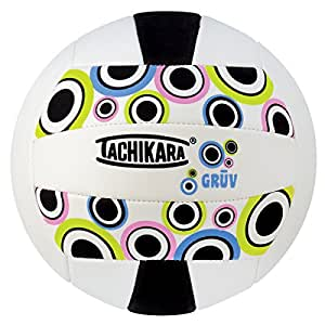 Tachikara SofTec GRUV Volleyball, Black/White