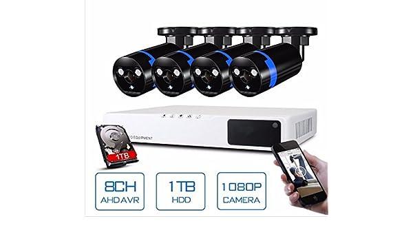 Amazon.com: GOWE Security Camera System 8ch CCTV System 4 x 1080P CCTV Camera Surveillance System Kit Camaras Seguridad Home 1TB HDD: Home Improvement