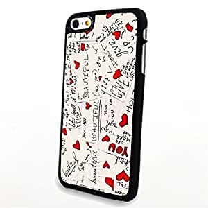 Generic Phone Accessories Matte Hard Plastic Phone Cases Quote Love Note fit for Iphone 6 Plus