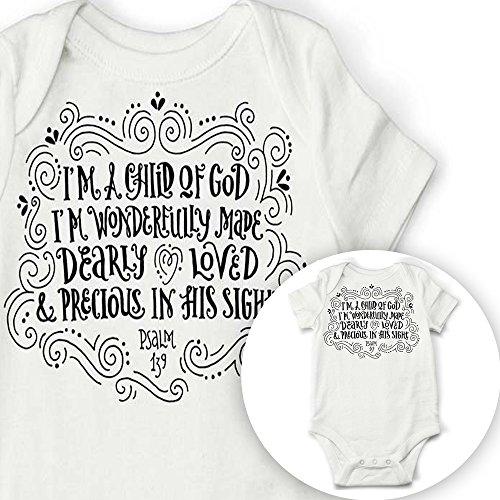hild Of God Baby Onesie (3-6) (Baptism Onesie)