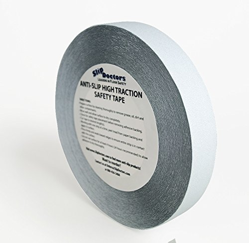 Safety Clear Non Abrasive Antislip Tape - Non Slip (1 - One Inch) by SlipDoctors