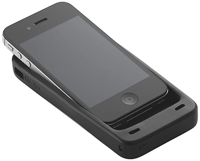 timeless design 5cf7b a0d86 Energizer PP-IP4SB iPhone 4S and iPhone 4 Charging Case - 1 Pack - Retail  Packaging - Black