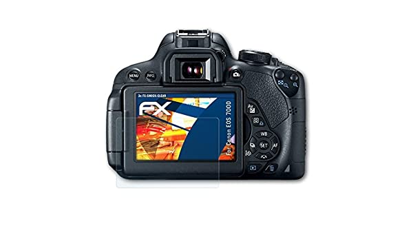 atFoliX Antichoque Película Protectora Compatible con Canon EOS ...