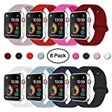iDon Smart Watch Band, Soft Silicone Replacement Sports Band compatible for Apple Watch