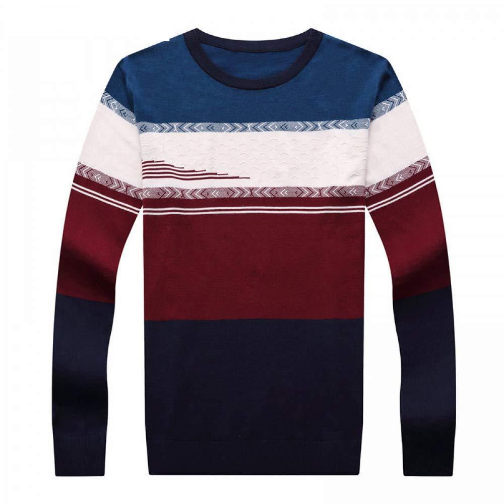 JIAKENVDE Herren Pullover Lässige Gestreifte O-Ausschnitt Pullover Kleidung Herbst Winter Top Pull Homme 8196