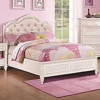 Coaster Caroline Full Diamond Tufted Bed in White
