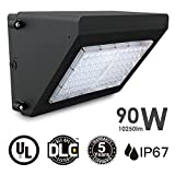 Docheer 90W LED Wall Pack Lights10250Lumens, (300W Eq.) LED Security Lights for Workshop, Commercial Grade Outdoor Rated IP65