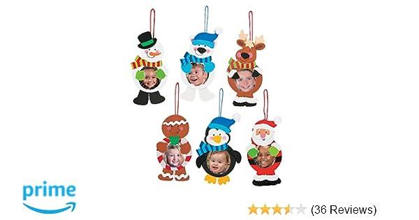 Amazon.com: 12 ~ Christmas Character Photo Frame Ornament Craft Kits ...