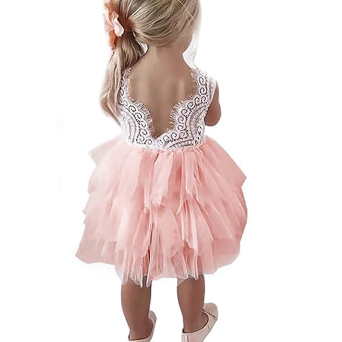 Amazon.com: Vestido de fiesta de tutú de tul con encaje en ...