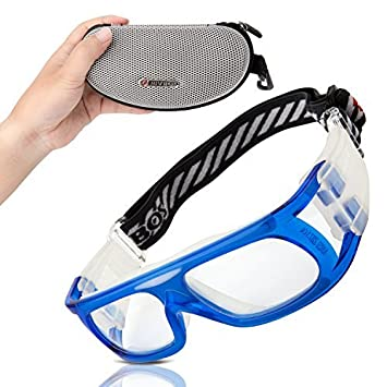 41772342131e RIVBOS 1810 Safety Sports Glasses Protective Sports Goggles with Strap and Portable  Case for Basketball Football