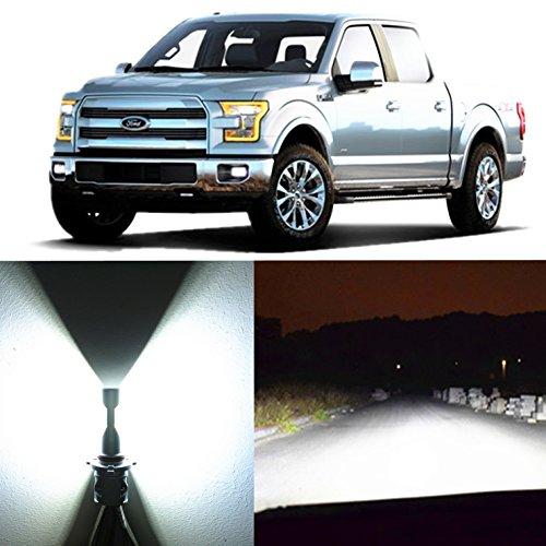 Alla Lighting 2pcs Super Bright LED Light Bulbs replacement for 2009~2014 Ford F150/2011~16 F250 F350 F450 F550/2011~17 F-250 F-350 F-450 F-550 Super Duty (H13 Hi/Lo Beam Headlight, White)