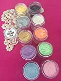 BABY PEARL Luster Dust SET (10 colors) 4 gram EACH CONTAINER ,cakes, cupcakes, fondant, decorating, cake pops By Oh! Sweet Art Corp