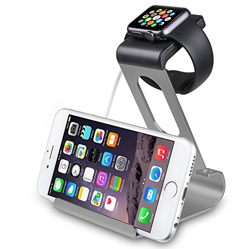 iPhax Apple Watch Stand, Aluminum Stand Charge Station for iWatch [Series 2] and iPhone 7/7plus, 6S, 6plus /iPad (Apple Watch Stand)