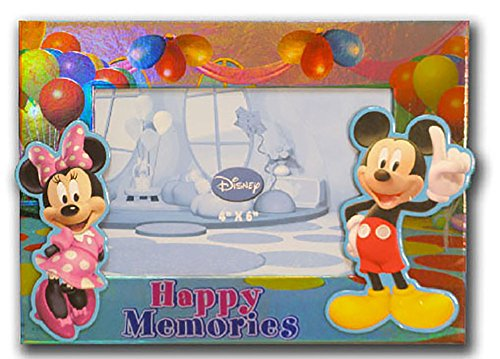 Disney Mickey & Minnie Mouse HAPPY MEMORIES Photo Picture Frame (Disney Picture Frames 4x6)