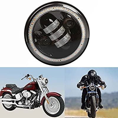 5.75inch 50W 5000LM 3000LM High Low Beam with Halo Angel Eye CREE LED Headlight for Harley Davidson Motorcycle 1Pc