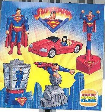 Superman, Girl in Convertible Car, Burger King Kids Club