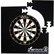 Swiftflyte N.D.F.C 28 inch Dartboard Surround, 4 Piece Interlocking Square Dart Board Surround, Backboard &